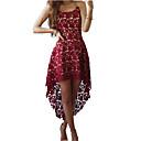 رخيصةأون مخففات التوتر-فستان نسائي دانتيل غير متماثل زهرة مغبرة لون سادة V رقبة مناسب للحفلات مناسب للخارج