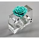 رخيصةأون Home Fragrances-الطراز الأوروبي بلاستيك مربع دائر لمنديل الجدول ديكورات 6 pcs