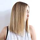 ieftine Peruci & Extensii de Păr-Peruci Sintetice Drept Drept Perucă Blond Mediu Brown medie / Strawberry Blonde Păr Sintetic Pentru femei Partea laterală Blond
