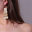 ieftine Materiale De Album De Amintiri-Pentru femei Cercei Picătură Cercei Rotunzi Supradimensionat cercei Bijuterii Auriu / Argintiu Pentru Carnaval Stradă