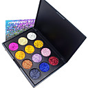 12 Colors Eyeshadow Palette Powders Shimmer EyeShadow Matte Shimmer Formaldehyde Free Glitter Shine smoky Convenient Daily Makeup Halloween Makeup Party Makeup Cosmetic Gift
