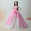 رخيصةأون حالات / أغطية ون بلس-دمية اللباس الفساتين إلى Barbie زهري شيفون فستان إلى لفتاة دمية لعبة