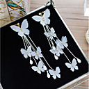 cheap Earrings-Women's Crystal Clip on Earring Flower Bowknot Elegant Earrings Jewelry White For Wedding Holiday One-piece Suit