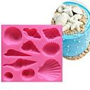 ieftine Ustensile & Gadget-uri de Copt-frumos coajă de mare coajă silicon 3d mucegai non-stick tort fondant