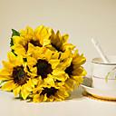 povoljno LED svjetla u traci-Umjetna Cvijeće 6 Podružnica Pastoral Style Suncokreti Cvjeće za stol