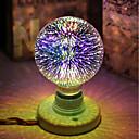 رخيصةأون لعب-1PC 5 W مصابيح كروية LED مصابيحLED 450 lm E26 / E27 G95 28 الخرز LED LED مدموج ديكور نجمي الألعاب ثلاثية الأبعاد ألوان متعددة 85-265 V / بنفايات