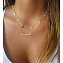 povoljno Modne ogrlice-Žene slojeviti Ogrlice Bračni Jabuka dame Klasik Metal Legura Zlato Srebro Ogrlice Jewelry 1pc Za Dar Dnevno