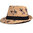 رخيصةأون قبعات الرجال-الصيف أبيض أزرق البحرية كاكي قبعة الدلو طبع رجالي-طبع قش