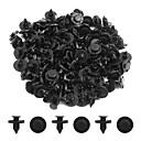 رخيصةأون أغراض و قطع السيارات-100 قطع 8 ملليمتر ضياء الأسود البلاستيك دفقة السجاد دفع نوع الداخلية حصيرة مقاطع للسيارات