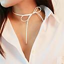 povoljno Ukrasne naljepnice-Žene Djevojčice Choker oglice Mašnice dame slatko Flanel Flis Obala Braon Ogrlice Jewelry Za Dnevno Škola