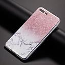 baratos Abotoaduras-Capinha Para Apple iPhone X / iPhone 8 Plus / iPhone 8 Estampada Capa traseira Mármore Macia TPU