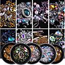 1Bottle Glitter Powder Nail Jewelry Rhinestones Luxury / Fashionable Design / Sparkling nail art Manicure Pedicure Daily Fashionable Jewelry / Sparkle & Shine