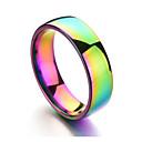 povoljno Prstenje-Muškarci Band Ring Svjetlosmeđ Titanium Steel nehrđajući Circle Shape Šarene Dnevno Formalan Jewelry Duga jeftino Raspoloženje