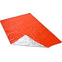 رخيصةأون مفارش التخييم-بطانية الطوارئ كيس نوم للطوارئ في الهواء الطلق تخييم الدفء الأشعة فوق البنفسجية مقاوم سميك التخييم والتنزه الخارج إلى برتقالي أخضر