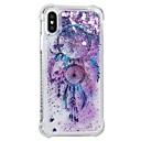 رخيصةأون أغطية أيفون-غطاء من أجل Apple iPhone X / iPhone 8 Plus / iPhone 8 ضد الصدمات / سائل متدفق / نموذج غطاء خلفي ملاحق الأحلام / زهور ناعم TPU