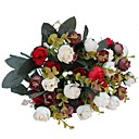 cheap Artificial Flowers-Artificial Flowers 2 Branch Pastoral Style Roses Tabletop Flower