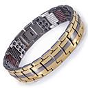 voordelige Fijne Sieraden-Heren Armbanden met ketting en sluiting Hologramarmband Tweekleurig Titanium Staal Armband sieraden Goud / Zwart / Zilver Voor Causaal Dagelijks