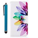 voordelige Galaxy S7 Edge Hoesjes / covers-hoesje Voor Samsung Galaxy S9 / S9 Plus / S8 Plus Portemonnee / Kaarthouder / met standaard Volledig hoesje Bloem Hard PU-nahka