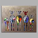 povoljno Bojano-ručno oslikano platno životinjskog ulja na platnu šarene zebre suvremene umjetnosti bez okvira