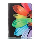 voordelige Samsung-hoes voor tablets-hoesje Voor Samsung Galaxy Tab A 8.0 Portemonnee / met standaard / Flip Volledig hoesje Bloem Hard PU-nahka