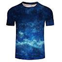 povoljno Muške jakne-Veći konfekcijski brojevi Majica s rukavima Muškarci Dnevno Galaksija Okrugli izrez Print Plava / Kratkih rukava / Ljeto