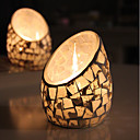 cheap Candles & Candleholders-European Style / Simple Style Glass Candle Holders 1pc, Candle / Candle Holder