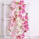 رخيصةأون أزهار اصطناعية-زهور اصطناعية 1 فرع الزفاف أوروبي ساكورا أزهار الحائط