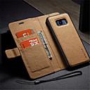 رخيصةأون Sony أغطية / كفرات-غطاء من أجل Samsung Galaxy S8 Plus / S8 / S7 edge محفظة / حامل البطاقات / مع حامل غطاء كامل للجسم لون سادة قاسي جلد PU