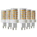 povoljno Trake i žice-ywxlight® 6pcs 10w 900-1000lm g9 led bi-pin svjetla 86led 2835smd visokokvalitetna keramička dimmable led žarulja AC 220-240v