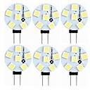 رخيصةأون مصابيح ليد ثنائية-SENCART 6PCS 1.5 W أضواء LED Bi Pin 60-80 lm G4 T 6 الخرز LED مصلحة الارصاد الجوية 5050 ديكور أبيض دافئ أبيض 12 V