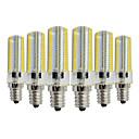 ieftine Produse Fard-YWXLIGHT® 6pcs 7 W Becuri LED Bi-pin 600-700 lm E14 T 152 LED-uri de margele SMD 3014 Intensitate Luminoasă Reglabilă Decorativ Alb Cald Alb Rece 220-240 V 110-130 V