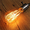رخيصةأون مصابيح خيط ليد-1PC 60 W E26 / E27 ST64 أبيض دافئ 2200-2300 k مكتب / الأعمال / تخفيت / ديكور المتوهجة خمر اديسون ضوء لمبة 220-240 V
