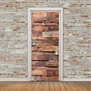 preiswerte Stickers für die Dekoration-Landschaft 3D Wand-Sticker Flugzeug-Wand Sticker 3D Wand Sticker Dekorative Wand Sticker Kühlschrank Sticker, Vinyl Haus Dekoration