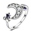ieftine Ceasuri Damă-Pentru femei Band Ring inel de înfășurare degetul mare Zirconiu Cubic diamant mic Argintiu Plastic Zirconiu Placat Auriu femei Clasic Vintage Zilnic Muncă Bijuterii MOON