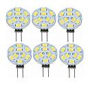 ieftine Becuri LED Bi-pin-SENCART 6pcs 2 W Becuri LED Bi-pin 360 lm G4 T 9 LED-uri de margele SMD 5730 Decorativ Alb Cald 12 V