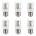رخيصةأون أضواء LED ذرة-BRELONG® 6PCS 3W 270lm E14 E26 / E27 أضواء LED ذرة 24 الخرز LED SMD 5730 أبيض دافئ أبيض 220-240V