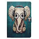 رخيصةأون حالة سامسونج اللوحي-غطاء من أجل Samsung Galaxy Tab A 8.0 حامل البطاقات / مع حامل / قلب غطاء كامل للجسم فيل قاسي جلد PU