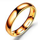 povoljno Prstenje-Muškarci Band Ring Crn Srebro Rose Gold Tikovina Titanium Steel Metal Circle Shape Klasik Vjenčanje Rođendan Jewelry