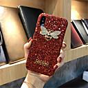 رخيصةأون أغطية أيفون-غطاء من أجل Apple iPhone X / iPhone 8 Plus / iPhone 8 نموذج غطاء خلفي بريق لماع قاسي الكمبيوتر الشخصي