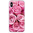 ieftine Ecrane Protecție Tabletă-Maska Pentru Apple iPhone X / iPhone 8 Plus / iPhone 8 Model Capac Spate Floare Moale TPU