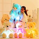 رخيصةأون ألعاب محشية-رومانسية خلاق دمية دب حيوانات محشية محبوب LED سيليكون فتيات ألعاب هدية