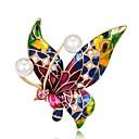 رخيصةأون بروشات-نسائي دبابيس فراشة قوس قزح سيدات عتيق بروش مجوهرات أزرق,أحمر,أرجواني من أجل مناسب للحفلات مناسب للبس اليومي