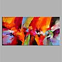 povoljno Ženski satovi-Hang oslikana uljanim bojama Ručno oslikana - Sažetak Moderna Bez unutrašnje Frame / Valjani platno