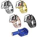 رخيصةأون حافظات / جرابات هواتف جالكسي S-حزام إلى Apple Watch Series 4/3/2/1 Apple بكلة كلاسيكية ستانلس ستيل / Plastic شريط المعصم