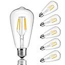 ieftine Ustensile & Gadget-uri de Copt-6pcs 4 W Bec Filet LED 360 lm E26 / E27 ST64 4 LED-uri de margele COB Decorativ Alb Cald Alb Rece 220-240 V / RoHs