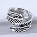 povoljno Prstenje-Žene Band Ring zamotajte prsten Srebro Legura dame Vintage Europska Kauzalni Jewelry Leaf Shape