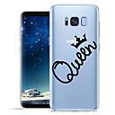 voordelige Galaxy S7 Hoesjes / covers-hoesje Voor Samsung Galaxy S8 Plus / S8 / S7 edge Patroon Achterkant Woord / tekst Zacht TPU