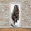 povoljno Zidni ukrasi-Životinje / 3D Zid Naljepnice Zidne naljepnice / 3D zidne naljepnice Vrata za vrata, Vinil Početna Dekoracija Zid preslikača Zid / Staklo / Kupaonica Ukras 1pc / Ponovno namjestiti