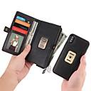 Недорогие Чехлы и кейсы для Galaxy J3(2016)-Кейс для Назначение Apple iPhone X / iPhone 8 Pluss / iPhone 8 Кошелек / Бумажник для карт / Защита от удара Чехол Однотонный Твердый Кожа PU