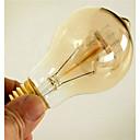povoljno Sa žarnom niti-1pc 40W E26 / E27 A60(A19) Toplo bijelo 2300k Retro Zatamnjen Ukrasno Žarulja sa žarnom niti Edison 220-240V